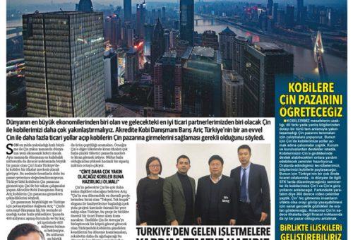 """KOBİLER İÇİN HEDEF PAZAR """"ÇİN"""" OLMALI"""